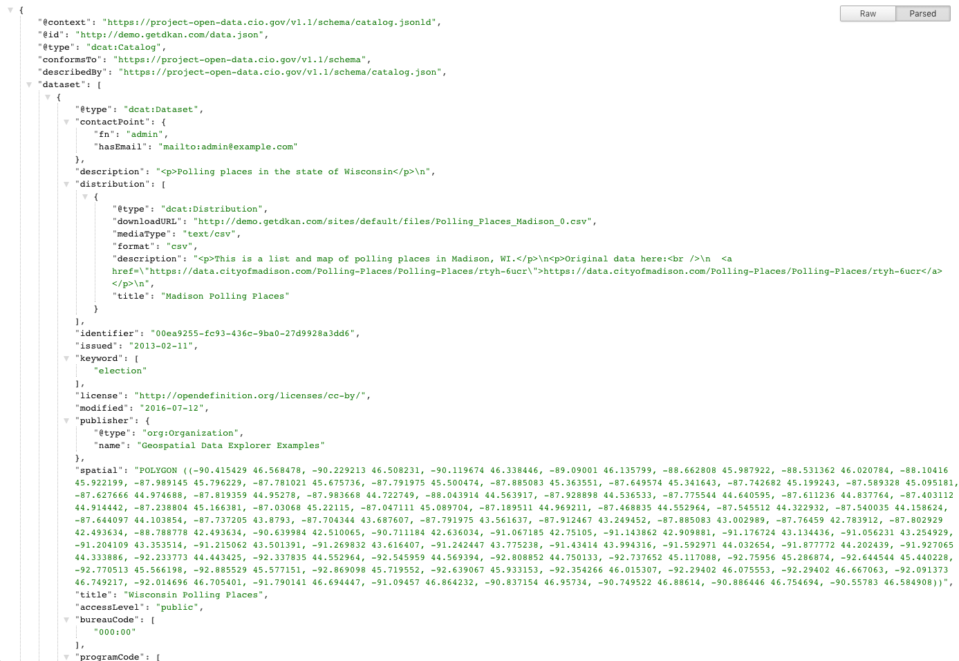 formatted data.json